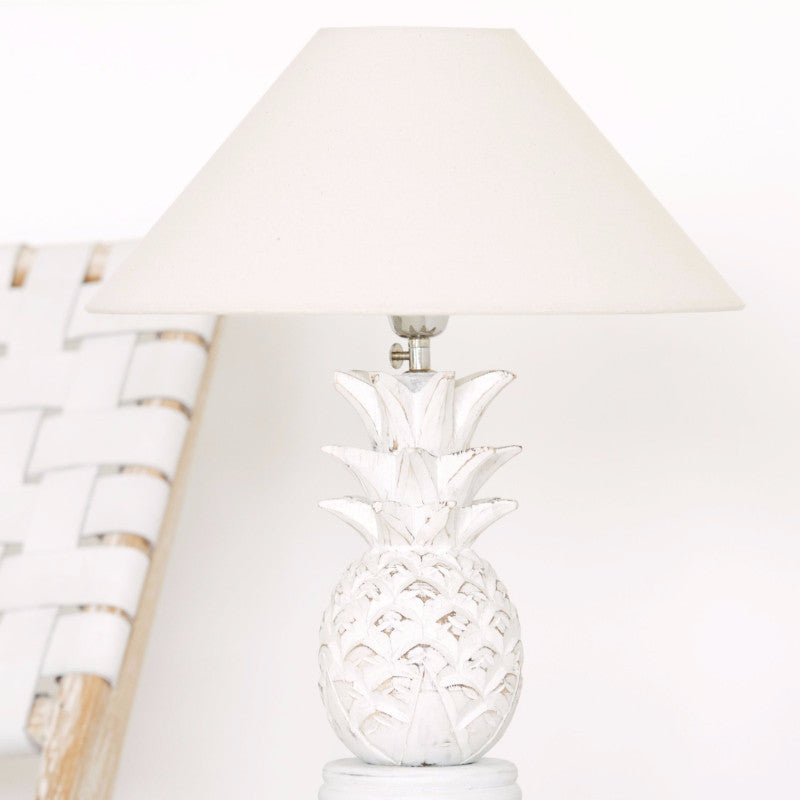 White Pineapple Lamp