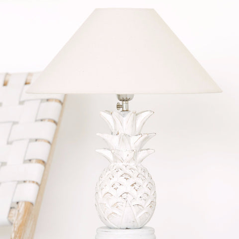 White Pineapple Lamp: Alternate View #1