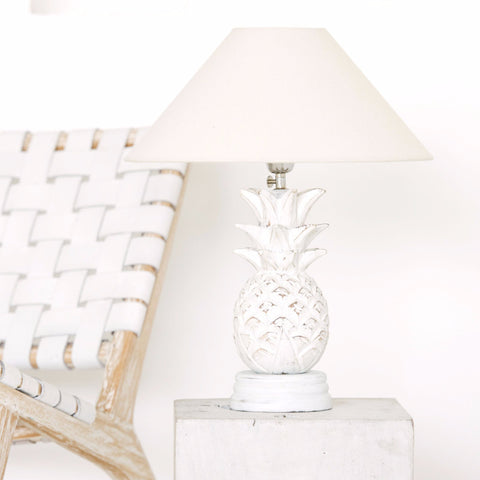 White Pineapple Lamp: Alternate View #2