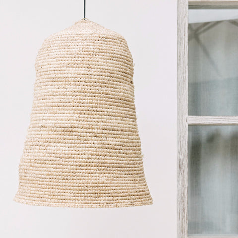Raffia Island Pendant Lampshade: Alternate View #1