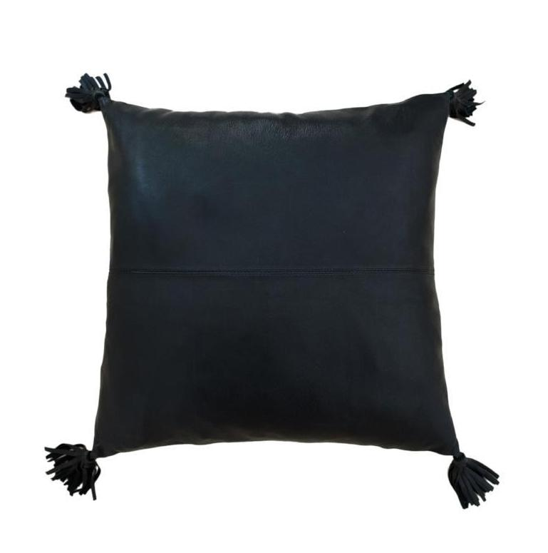 Full Leather Black Cushion