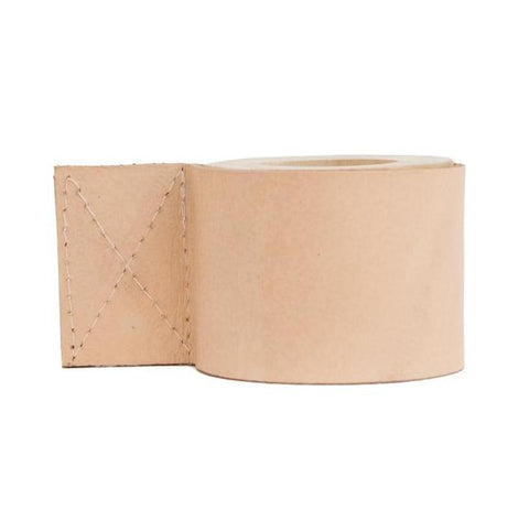 blush leather candle holder