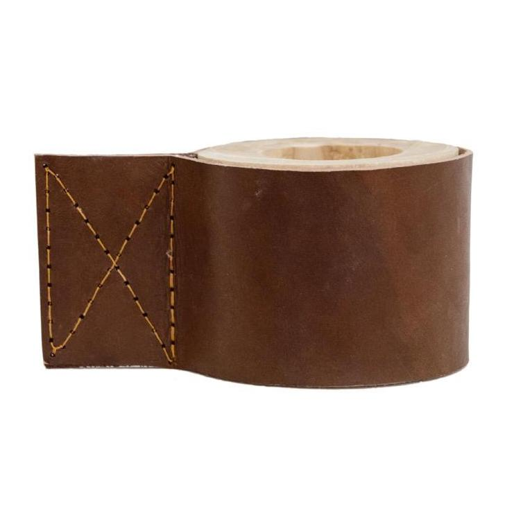 Leather Candle Holder Tan