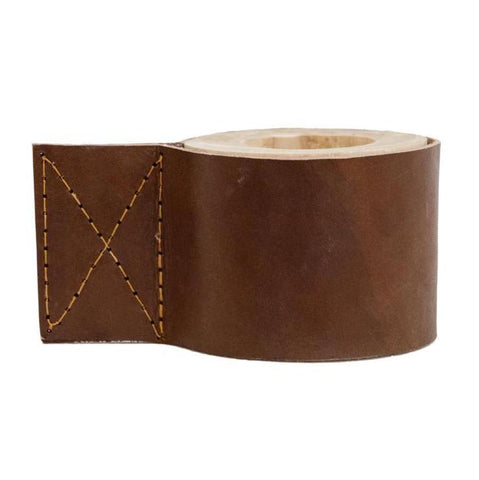 Leather Candle Holder Tan: Alternate View #1
