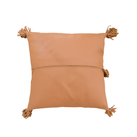 Full Leather Tan Cushion: Alternate View #2