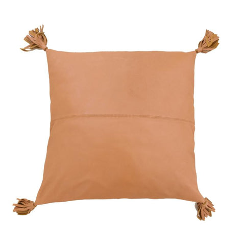 Full Leather Tan Cushion: Alternate View #1