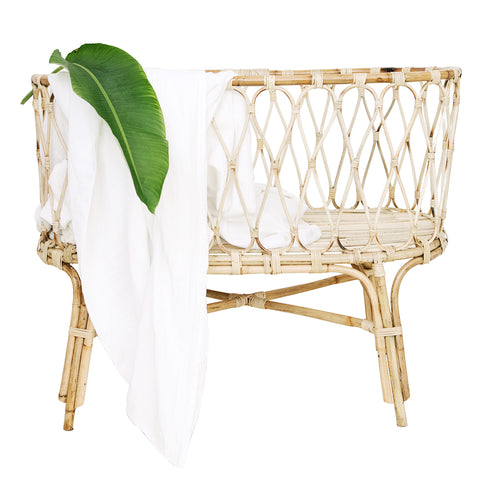 Little Poppet Rattan Baby Crib