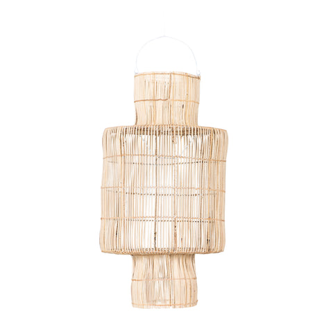 Lantern Rattan Pendant Light Natural