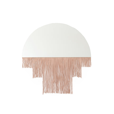 Luna Media Mirror - Blush Leather