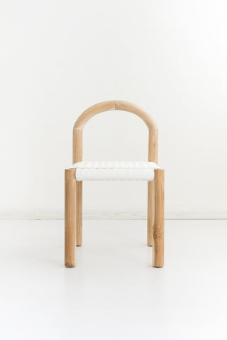 Minimiss White Rattan Chair: Alternate View #3