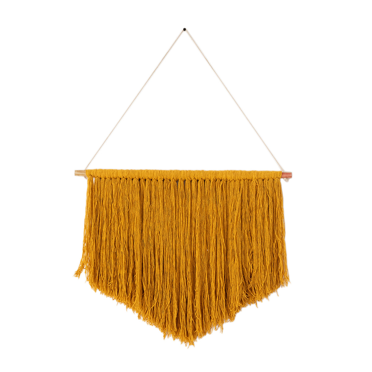 Waterfall Mustard Wall Hanging