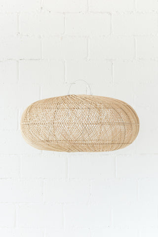 Rattan Sphere Pendant Natural: Alternate View #2