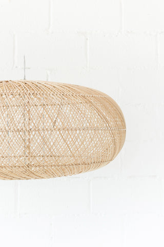 Rattan Sphere Pendant Natural: Alternate View #3