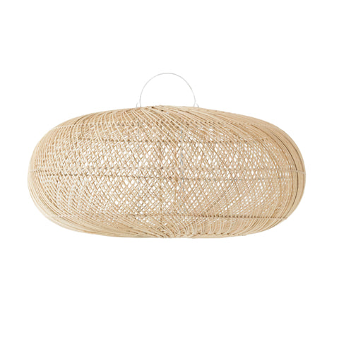 Rattan Sphere Pendant Light Natural
