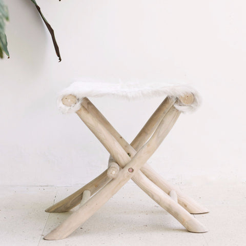 Farmhouse Folding Stool: Alternate View #2