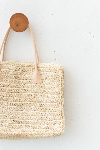 Seagrass Boho Tote Bag: Alternate View #2