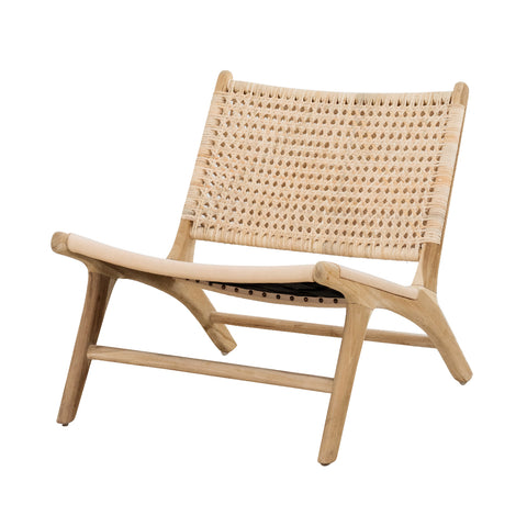 Summer Crush Cane & Leather Lounger