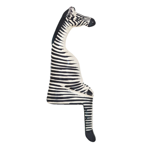 Shelfie Animal - Wooden Zebra
