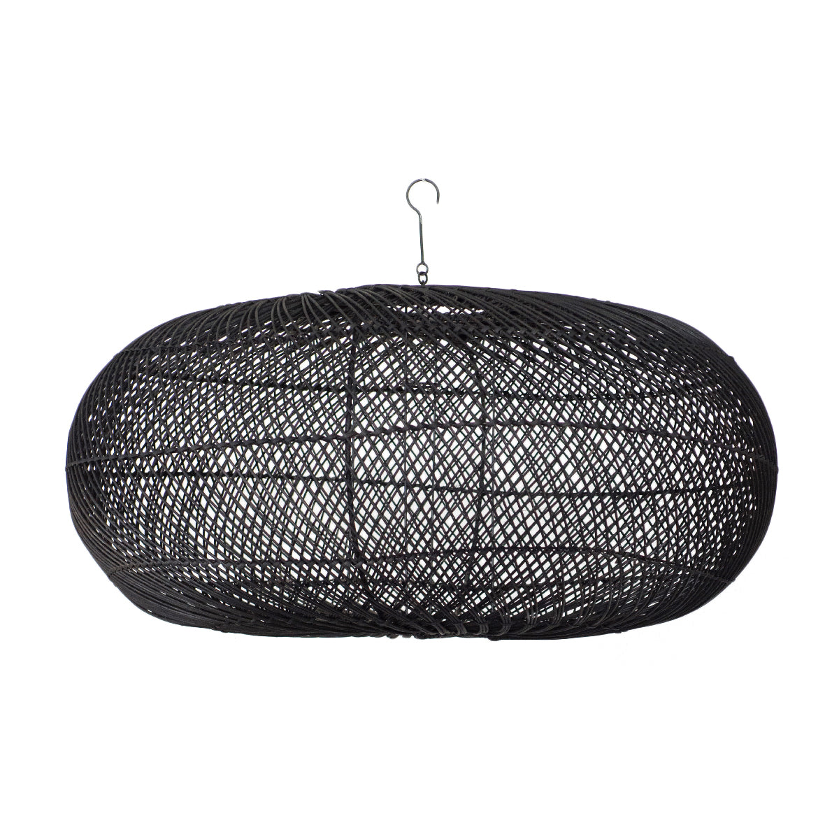 Rattan Sphere Pendant Light Black