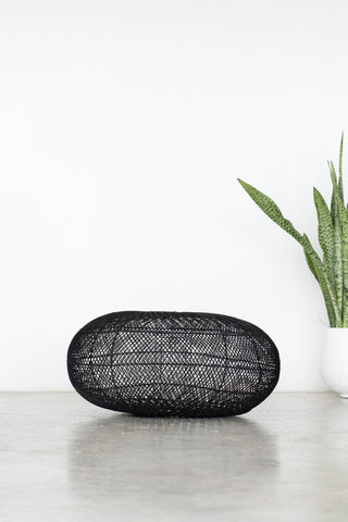 Rattan Sphere Pendant Light Black: Alternate View #3