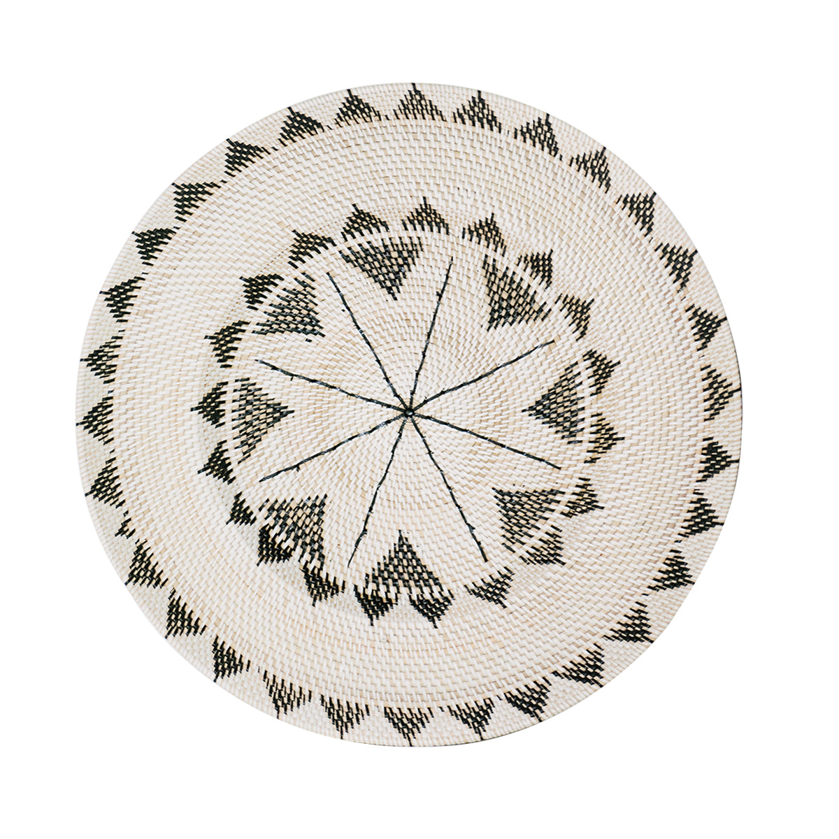 Monochrome Sun Tribal Plate