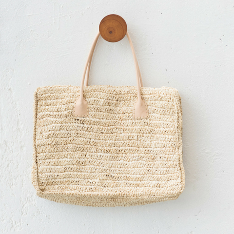 Seagrass Boho Tote Bag: Alternate View #1