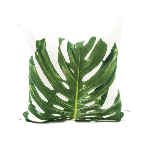 Scatter Cushion - Single Leaf Monstera - Joba Collection: Alternate View #1