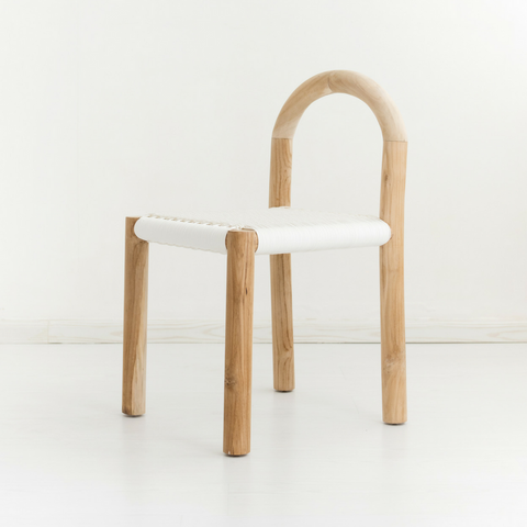 Minimiss White Rattan Chair: Alternate View #2
