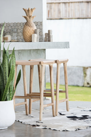 Bella Bar Stool - Blush Leather: Alternate View #14