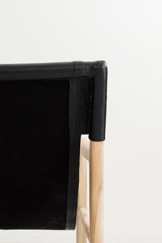 Bella Armchair - Black Leather: Alternate View #6