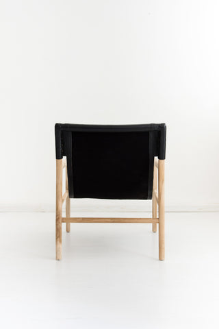 Bella Armchair - Black Leather: Alternate View #5