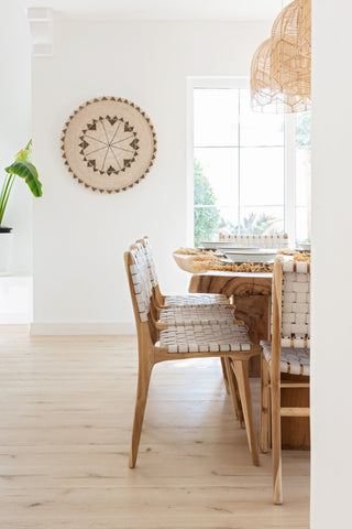 Bali Statement Dining Chair - White Leather: Alternate View #6