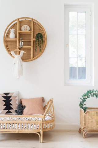 Cane & Rattan Circular Shelf: Alternate View #4