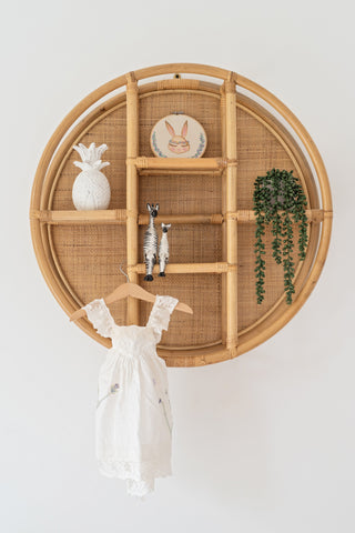 Cane & Rattan Circular Shelf: Alternate View #3