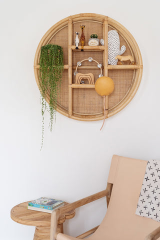 Cane & Rattan Circular Shelf: Alternate View #5