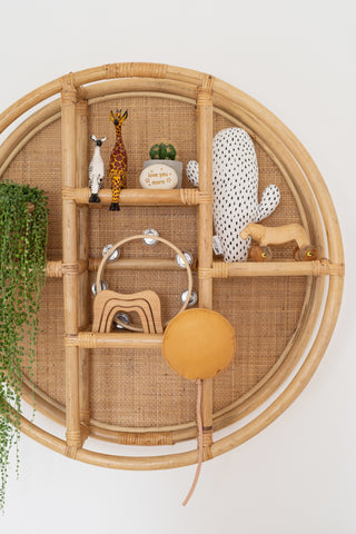 Cane & Rattan Circular Shelf: Alternate View #6
