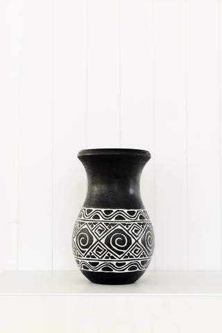 Zulu Black Vase: Alternate View #2