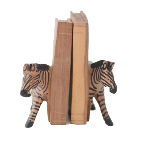 Kenyan Bookends - Zebra
