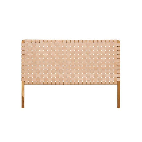 Bali Statement Leather Headboard Blush