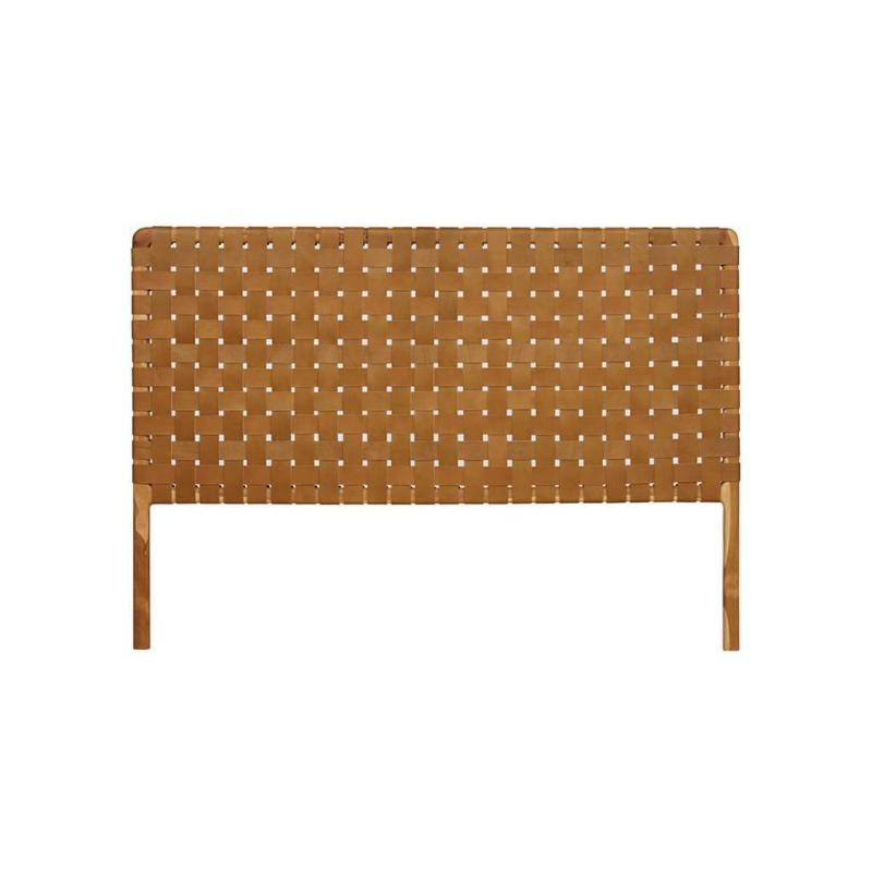 Bali Statement Leather Headboard Tan