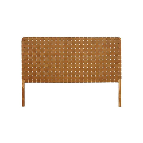 Bali Statement Leather Headboard Tan: Alternate View #1