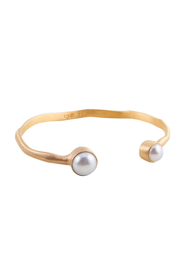 DOUBLE PEARL CUFF GOLD