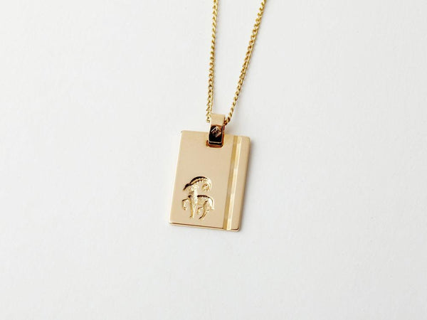 FD - Reliquia - Jewellery - Aries Star Sign Pendant - Gold - Top