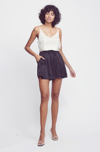 SILK GATHERED SHORTS