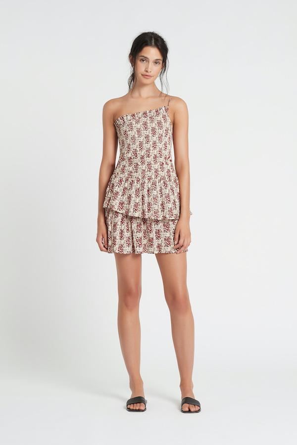 FLORE ONE SHOULDER MINI DRESS