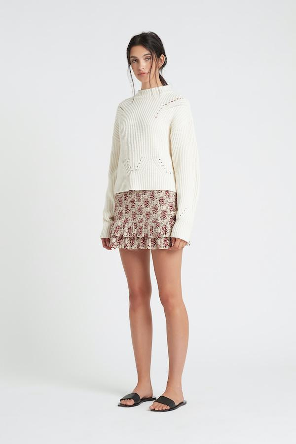 FLORE RUCHED MINI SKIRT