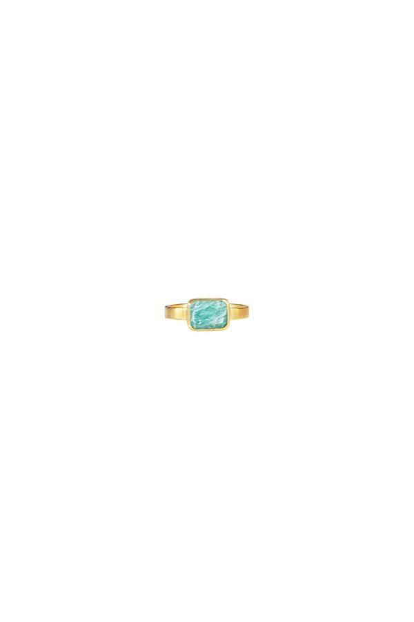 AMAZONITE DECO RING
