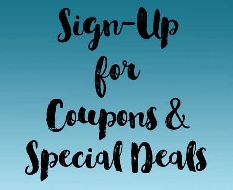 sign-up for coupons and special deals