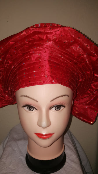 Red Instant Headwrap Sego - Express Gele