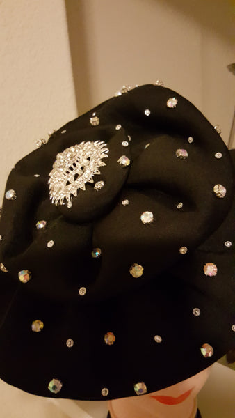 Black Turban with stones - Express Gele